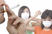 image of anti-cancer  - Children of smoking parents suffer especially by smoking air - JPG