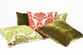 Green and red cushions