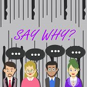 Word Writing Text Say Whyquestion. Business Concept For Give An Explanation Express Reasons Asking A poster
