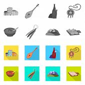 Isolated Object Of Culture And Sightseeing Icon. Collection Of Culture And Originality Stock Symbol  poster