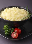 stock photo of mashed potatoes  - potato puree - JPG