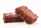 stock photo of brownie  - isolated brownie - JPG