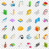 College Education Icons Set. Isometric Style Of 36 College Education Vector Icons For Web For Any De poster