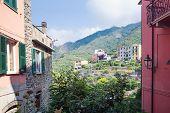 Corniglia, Italy, La Spezia Province, Liguria Regione, 07 August, 2018: The Townscape Of Corniglia.  poster
