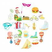 Cool Show Icons Set. Cartoon Set Of 25 Cool Show Icons For Web Isolated On White Background poster