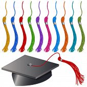 An image of a graduation cap and tassel set.