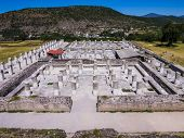 View Of The Ruins Of The Burnt Palace In Tula Archaeological Site, Mexico poster
