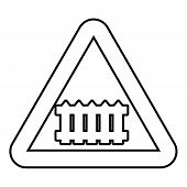 Crossing Railroad Barrier Icon. Outline Illustration Of Crossing Railroad Barrier Icon For Web Desig poster