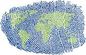 World Fingerprint poster
