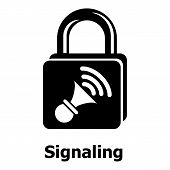 Signaling Icon. Simple Illustration Of Signaling Icon For Web poster