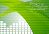 Bright elegant tech design with abstract waves. Eps 10 vector background