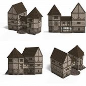 Medieval Houses - Gatehouse poster