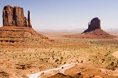 Tourists At Monument Valley poster