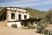 stock photo of stagecoach  - abandoned stagecoach depot on a backroad in Arizona - JPG