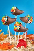 picture of cornucopia  - Cornucopia cake pops - JPG
