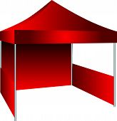 stock photo of canopy  - The concession stand in the form of a canopy with possible use as an exhibition canopy - JPG