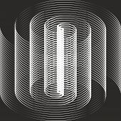 stock photo of mobius  - A black and white spiral optical illusion - JPG