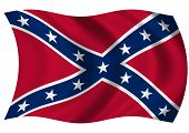 stock photo of confederate flag  - Confederate forces naval jack - JPG