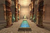 stock photo of anubis  - A temple to worship the Egyptian god Anubis - JPG