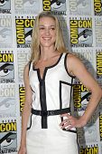 SAN DIEGO, CA - JULY 20: Zoie Palmer arrives at the 2013 Comic Con press room at the Hilton San Dieg