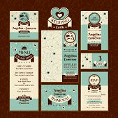 stock photo of marriage ceremony  - Set of wedding cards - JPG