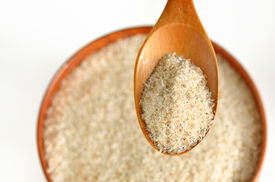 picture of laxatives  - psyllium seed husks - dietary supplement source of soluble fiber ** Note: Shallow depth of field - JPG