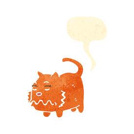 picture of fart  - retro cartoon farting cat - JPG