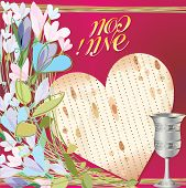picture of passover  - Greeting card of the Jewish Passover - JPG