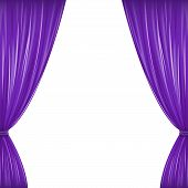 pic of pageant  - A pair of purple drapes on white with copy space - JPG