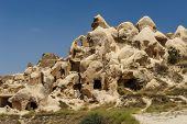 stock photo of goreme  - Strange looking rocks near Goreme - JPG