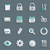 picture of semi-circle  - Semi flat web icons set of 15 vector design elements - JPG