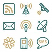 Communication web icons, two color series