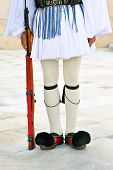 stock photo of evzon  - The greek presidential guards uniform  - JPG