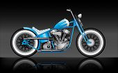 Постер, плакат: Custom Bobber On Black Background