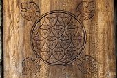 picture of tetrahedron  - Wooden Flower of Life - JPG
