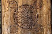 picture of merkaba  - Wooden Flower of Life - JPG