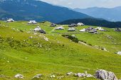 stock photo of velika  - Hills on Velika Planina - JPG