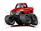 picture of muscle-car  - Vector Cartoon Monster Truck - JPG