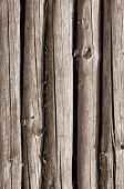 stock photo of stockade  - Fragment of the wall of the old stockade - JPG