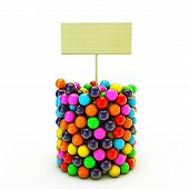 picture of gumballs  - illustration of many gumballs isolated on white background - JPG
