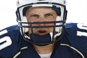 image of football helmet  - A close look inside a football player - JPG