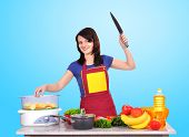 Housewife With A Knife