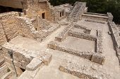 pic of minos  - Knossos palace at Crete Greece Knossos Palace is the largest Bronze Age archaeological site on Crete and the ceremonial and political centre of the Minoan civilization and culture - JPG
