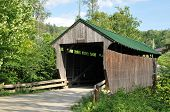 pic of covered bridge  - Jaynes or Codding Hollow covered bridge also know as the Kissing Bridge in Waterville VT - JPG