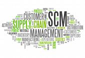 picture of supply chain  - Word Cloud with Supply Chain Management related tags - JPG