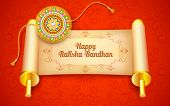 picture of rakshabandhan  - illustration of decorative rakhi for Raksha Bandhan - JPG