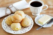 picture of brazilian food  - Brazilian snack pao de queijo  - JPG