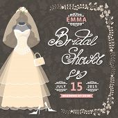 stock photo of bridal veil  - Bridal shower card - JPG
