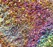 pic of bronze silver gold platinum  - Fantastic background magic of a stone rainbow in metal rock  - JPG