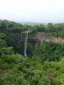 pic of chamarel  - Chamarel Falls In Mauritius Island, Indian Ocean